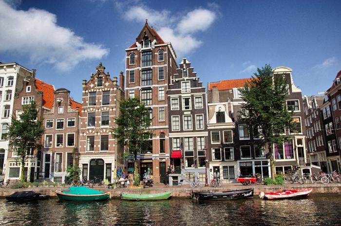 Amsterdam Haeuserfassaden