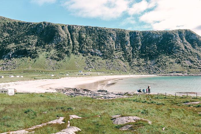 haukland beach lofoten norwegen
