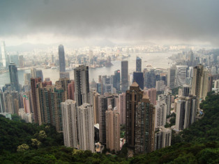 Hong Kong Skyline vom Peak
