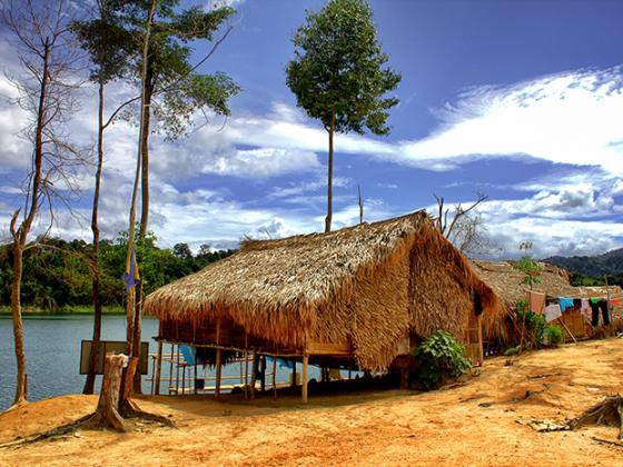 Malaysia Belum - Orang Asli Dorf