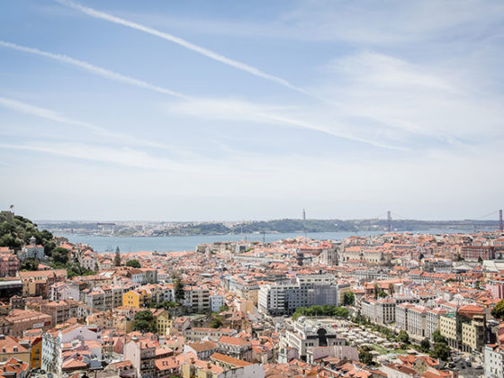 Ausblick Miradouro da Senhora do Monte Lissabon