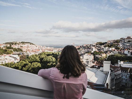 Ausblick Sky Bar Lissabon