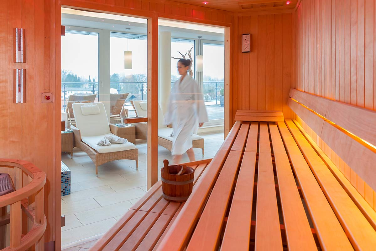 Sauna im Hotel Vier Jahreszeiten Starnberg