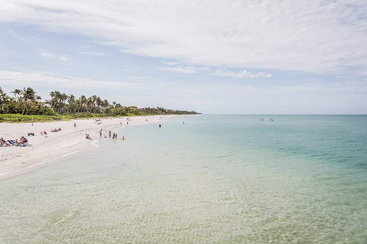 Blick vom Naples Pier in Florida
