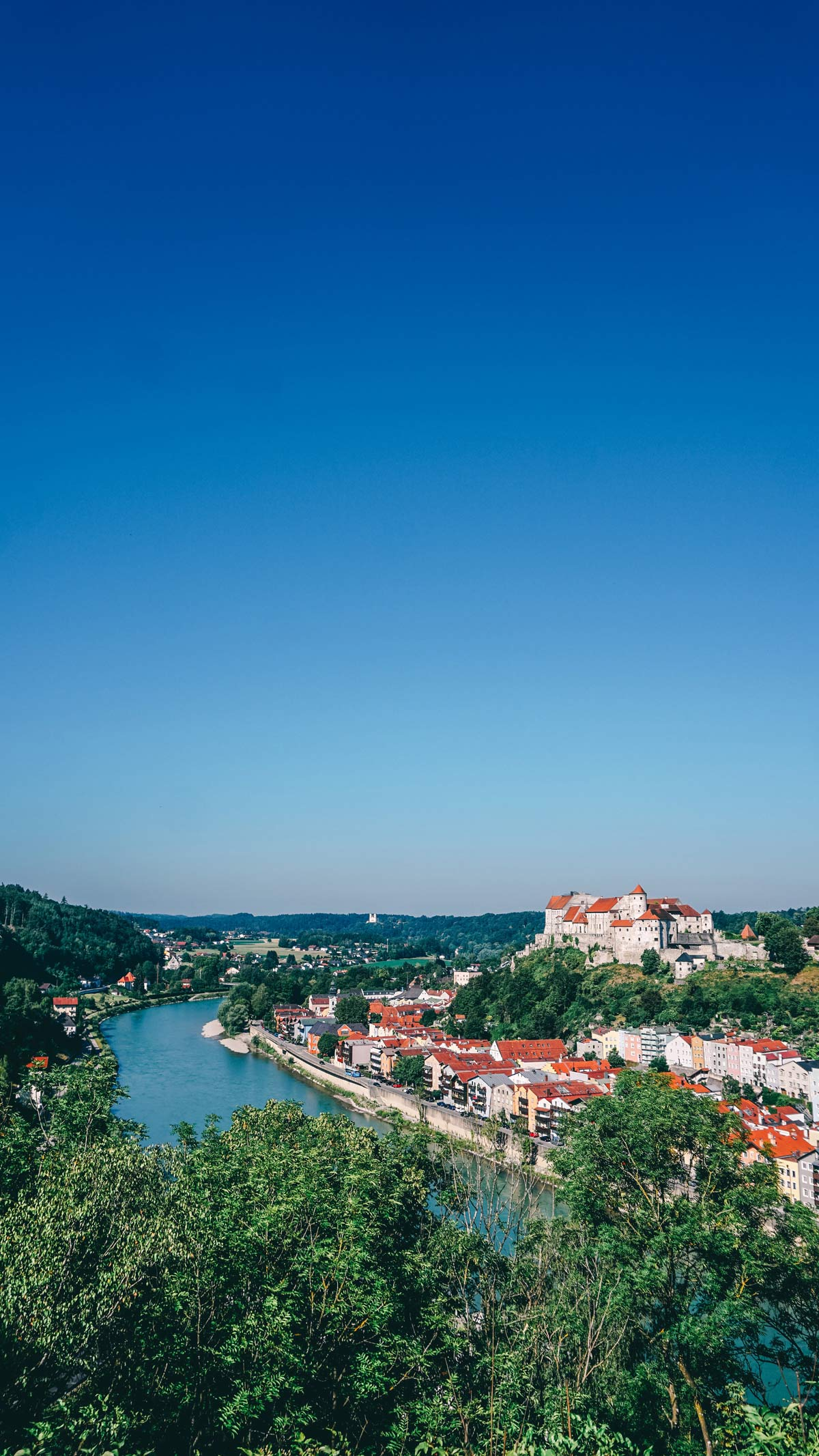 Burghause Ausblick Burg Aussicht