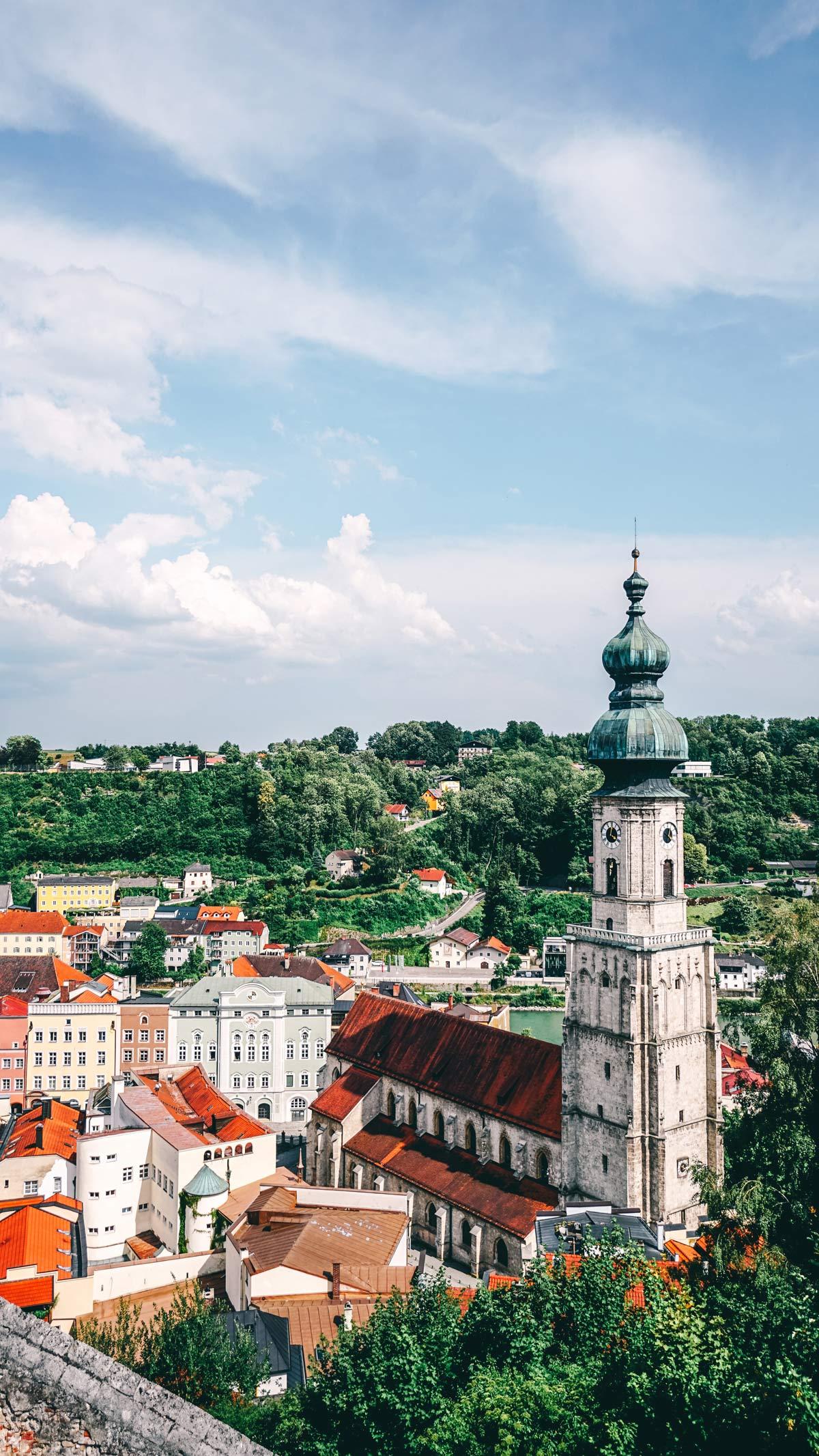 Burghausen Blick auf Altstadt