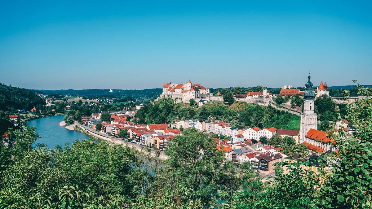 Burghausen Blick auf Burg