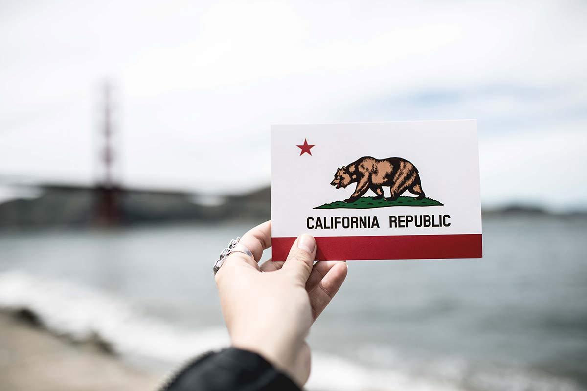 Postkarte von Kalifornien