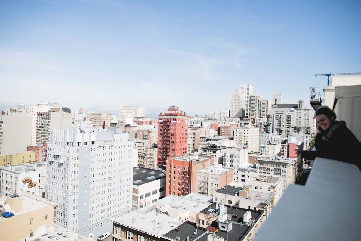 Skyline San Francisco mit mir