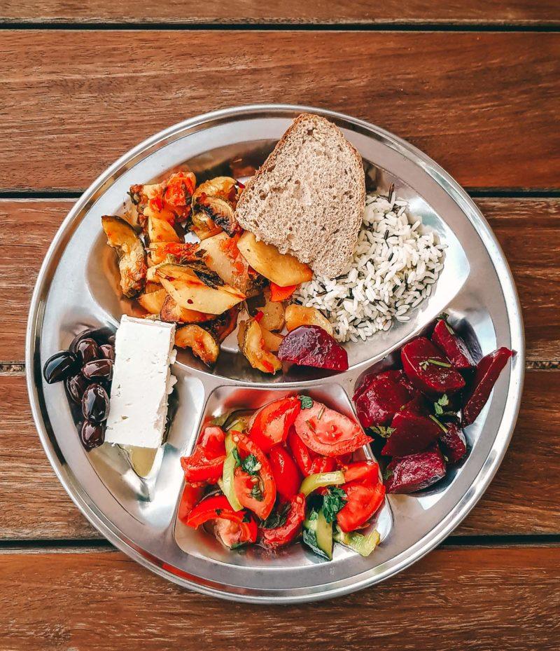 Vegetarisches Essen im Zen Rocks