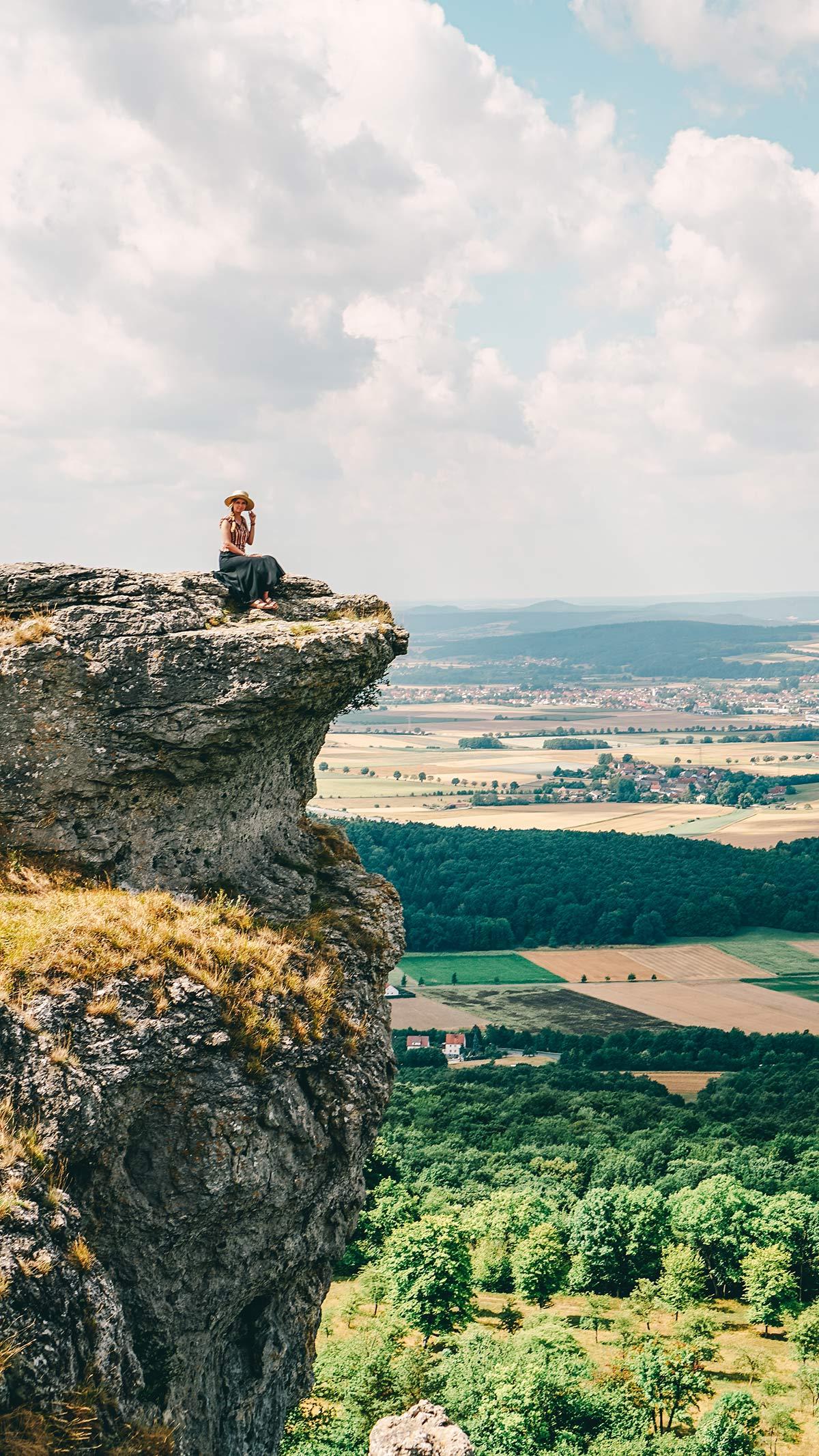 Bad Staffelstein Aussicht vom Staffelberg