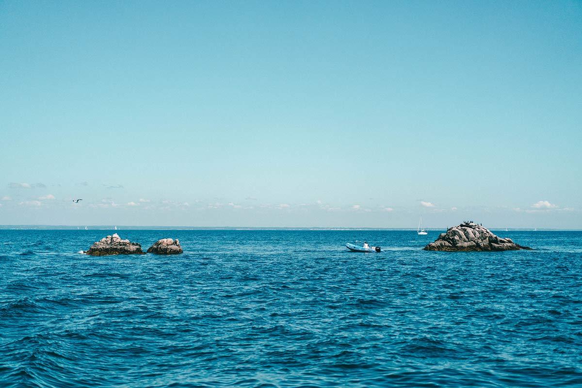 Glènan Inseln im Meer