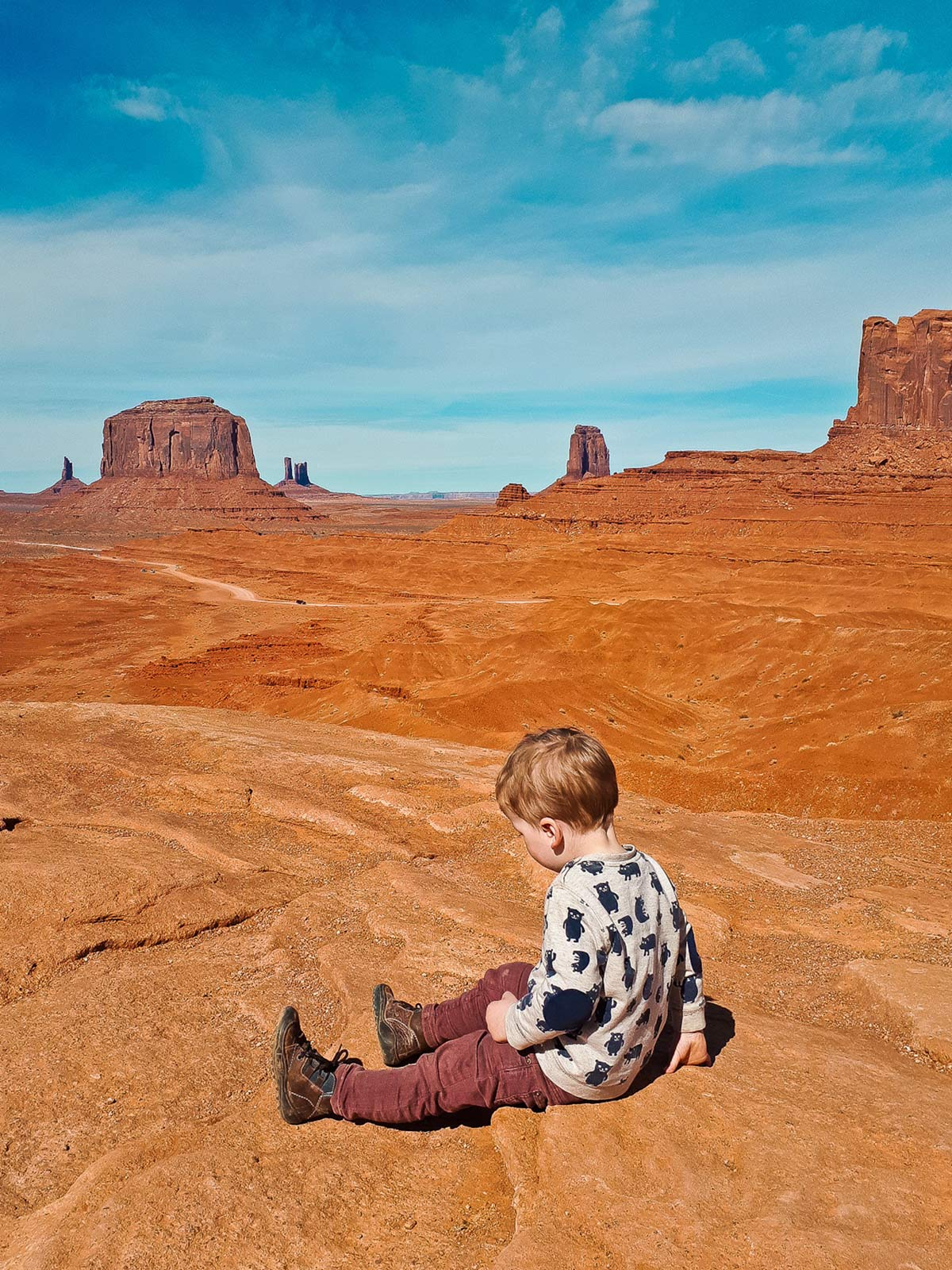 John Fords Point Monument Valley mit Kind