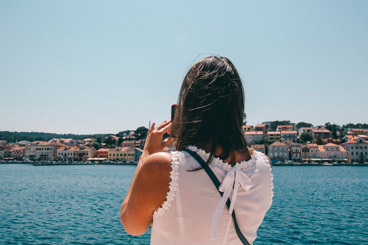 Ausblick auf Mali Losinj in Kroatien