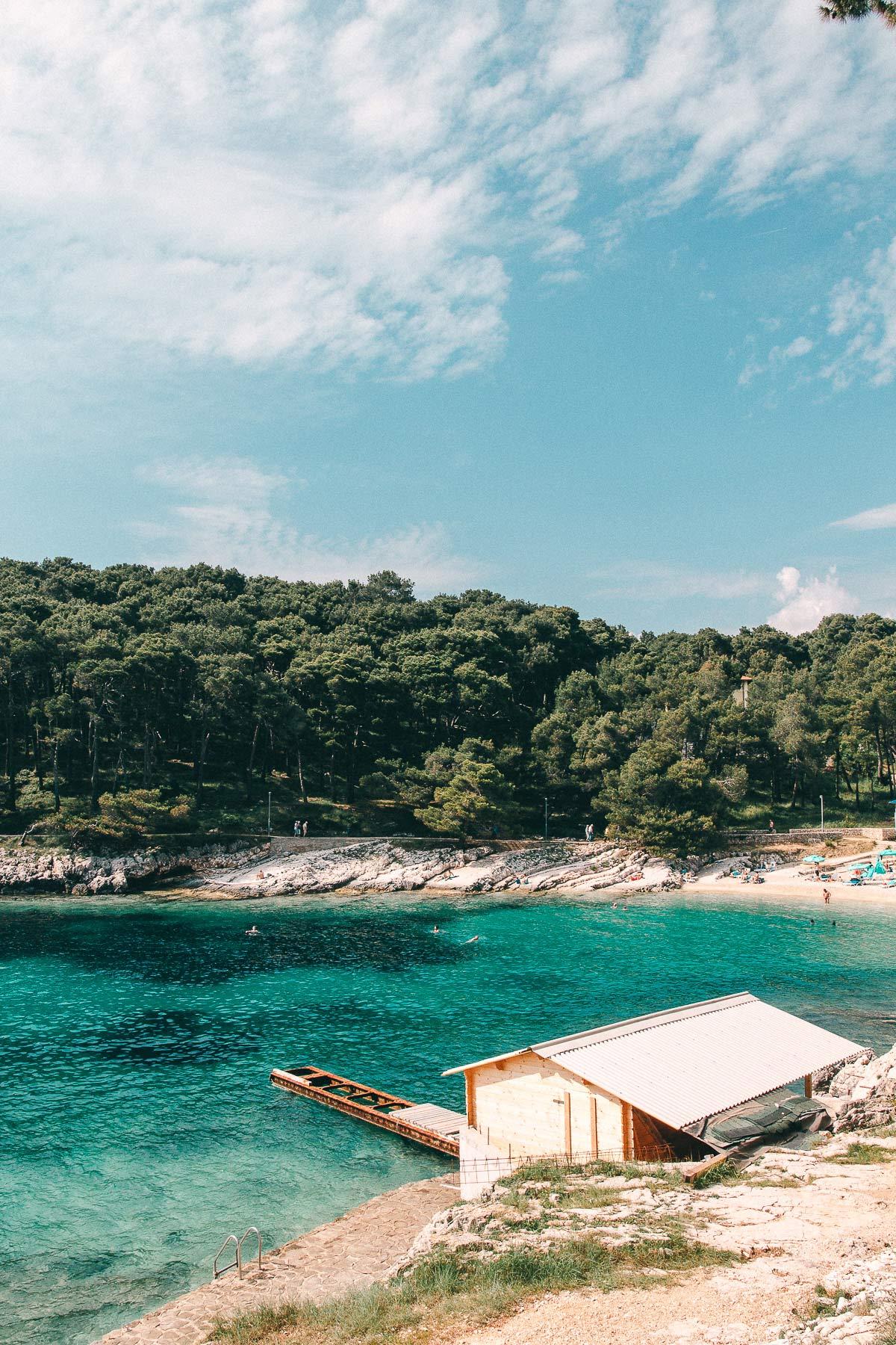 Eine traumhafte Bucht auf der Insel.