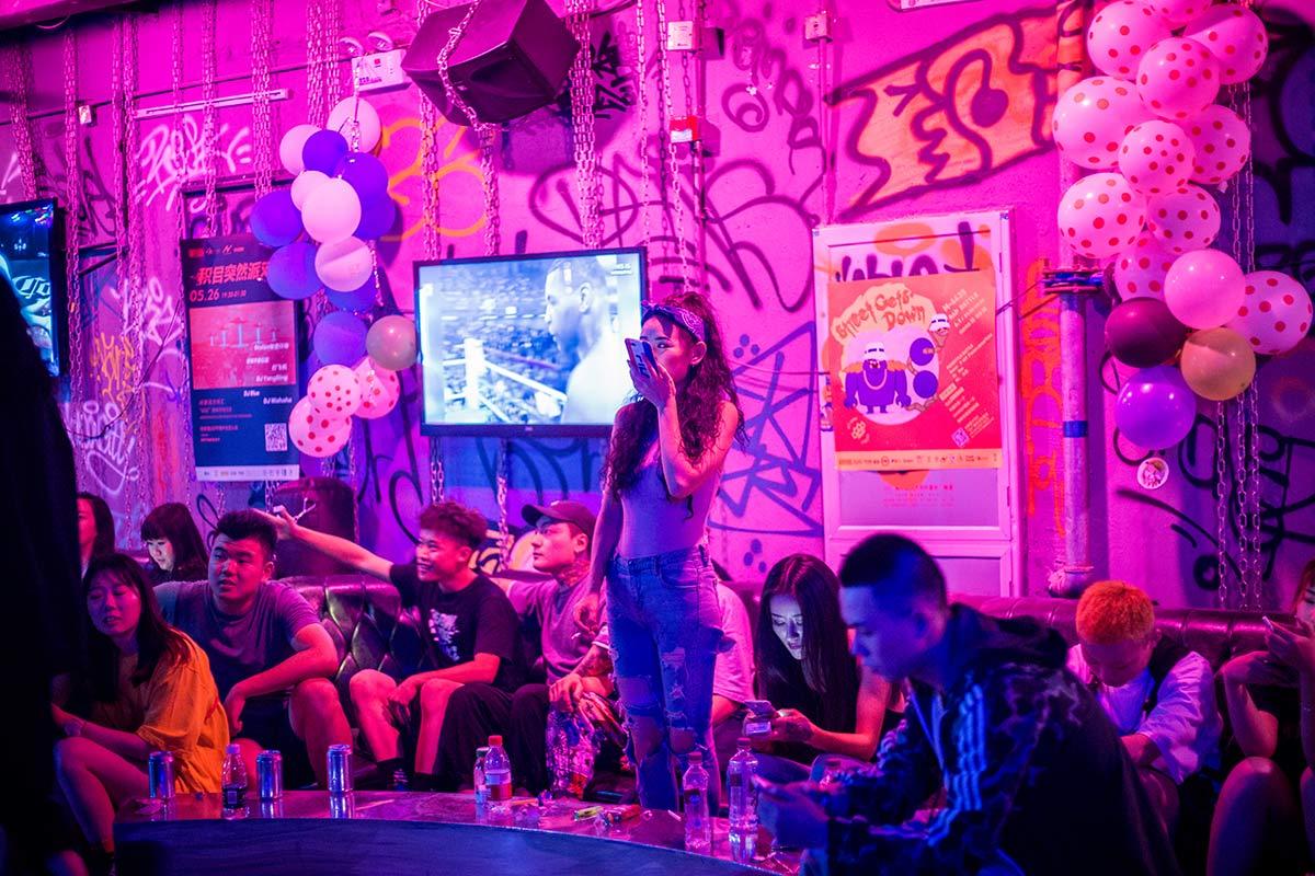 Modernes Nachtleben in Chengdu