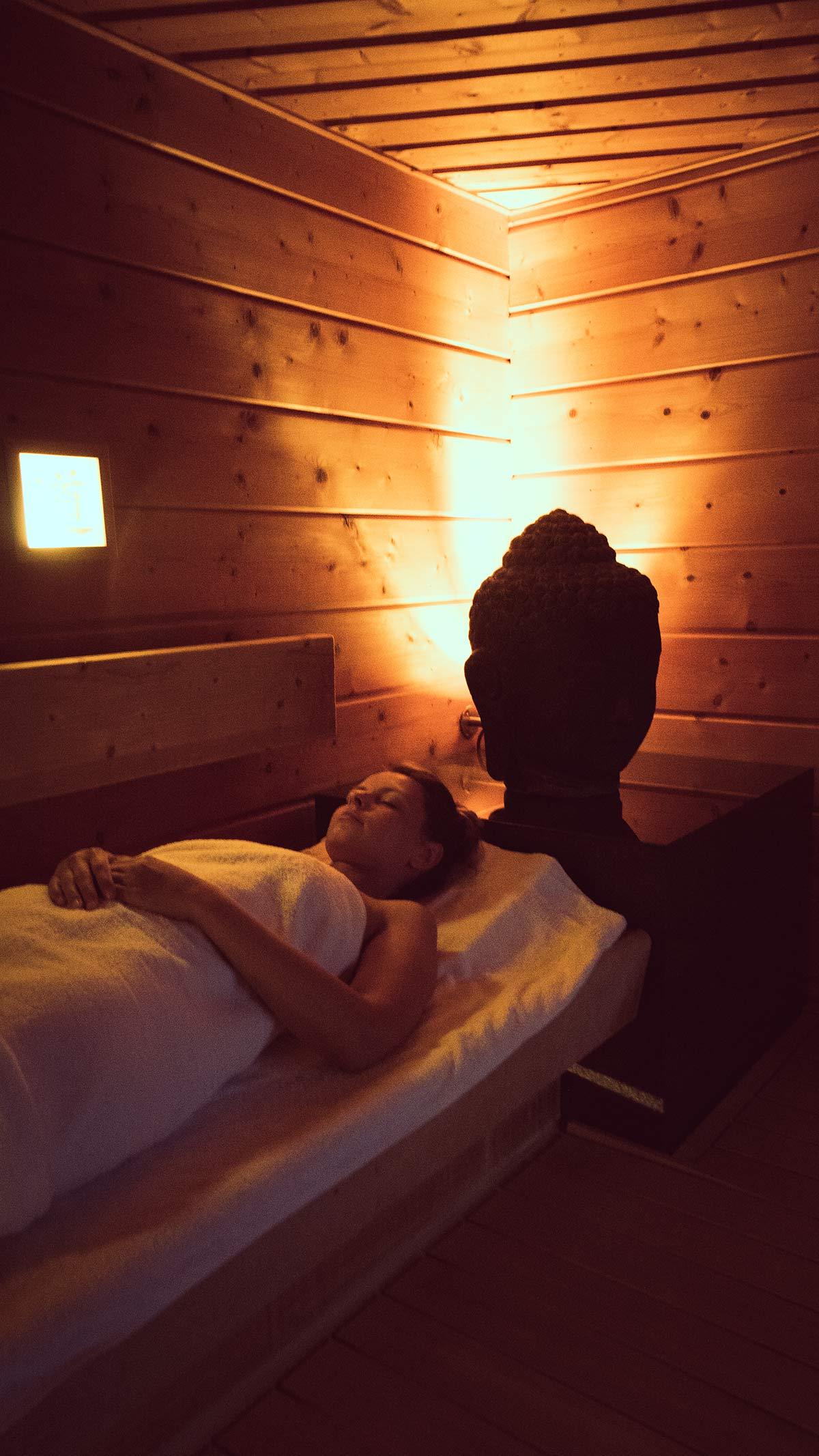 Obermain Therme Entspannung in der Sauna der Stille