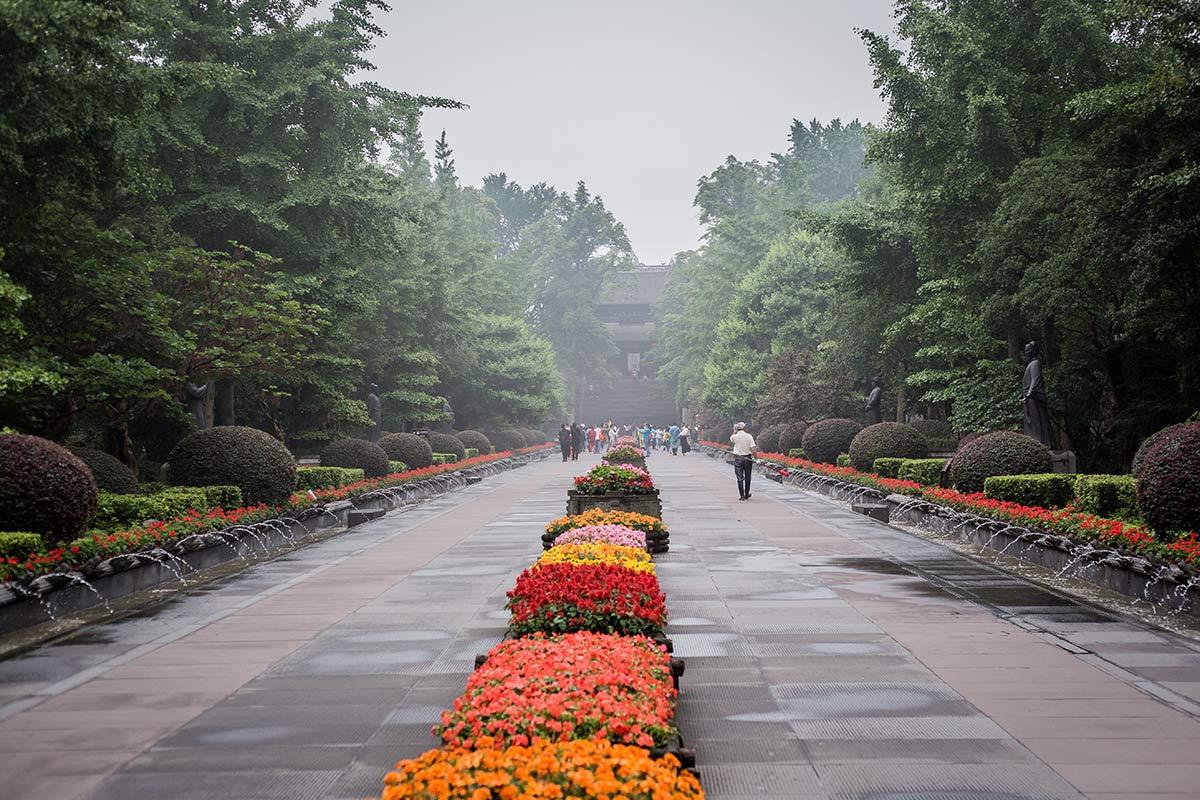 Park der Bewaesserungsanlage Dujiangyan