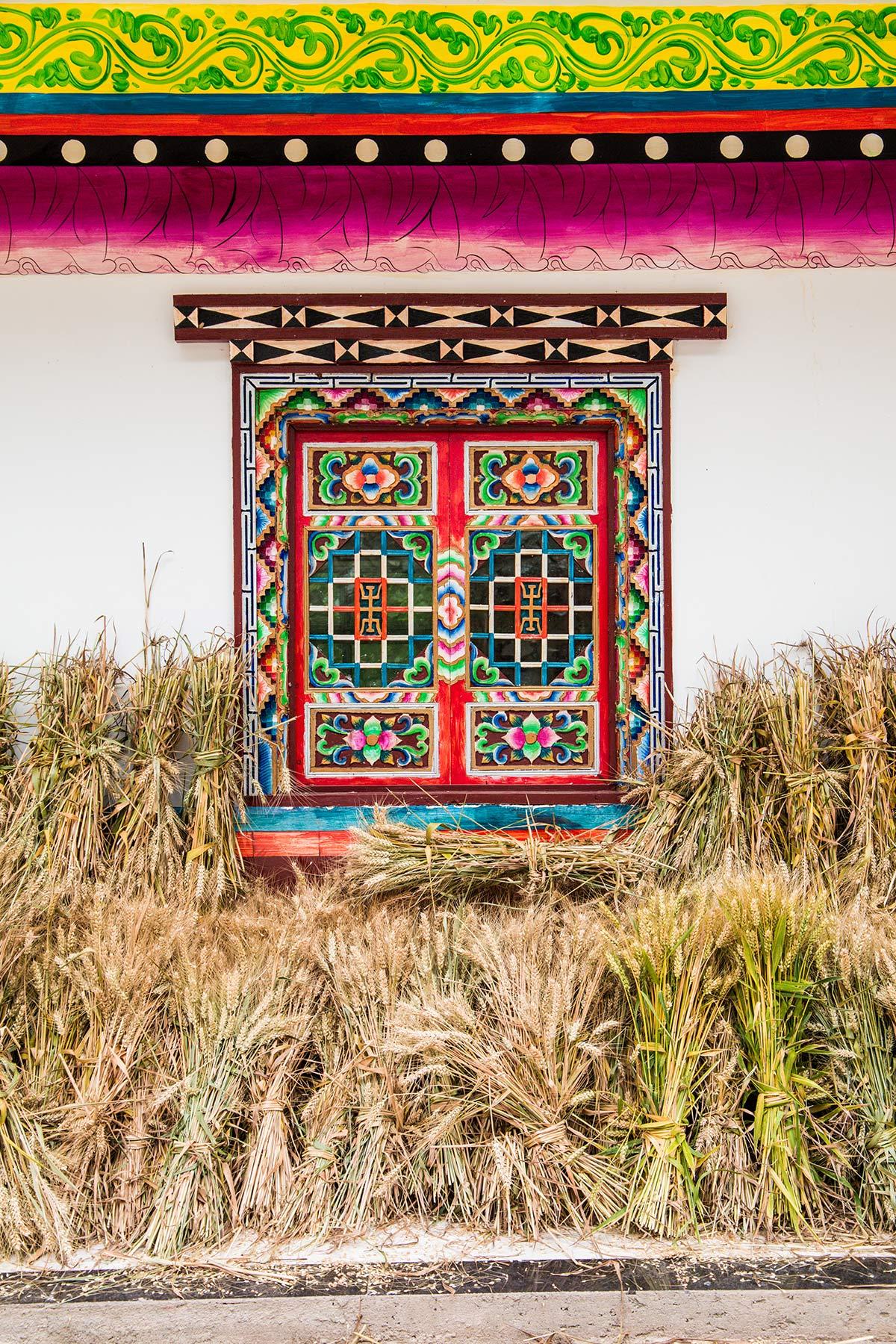 Schmuckfenster im Danba Tal Sichuan