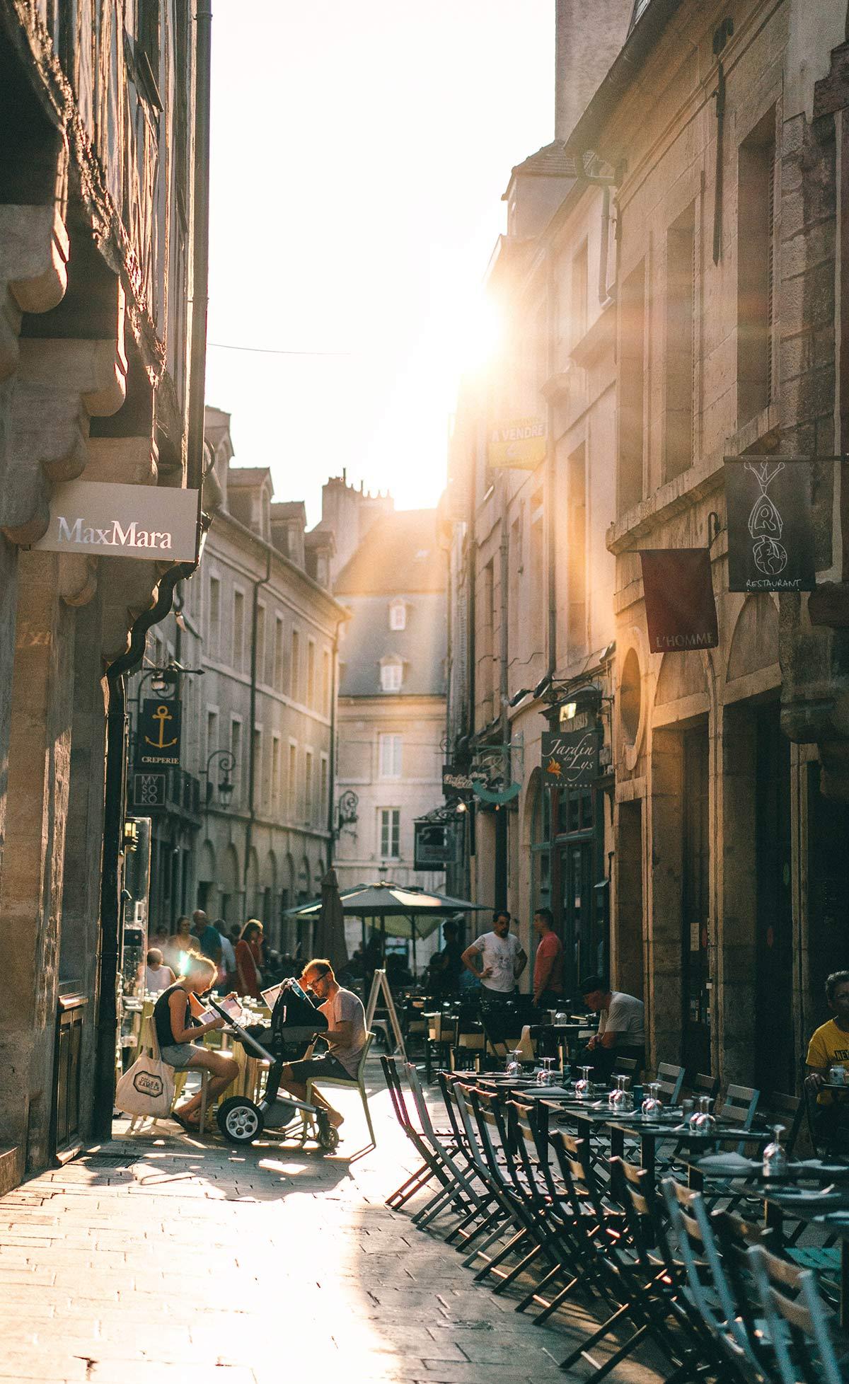 Sonnenuntergang Dijon