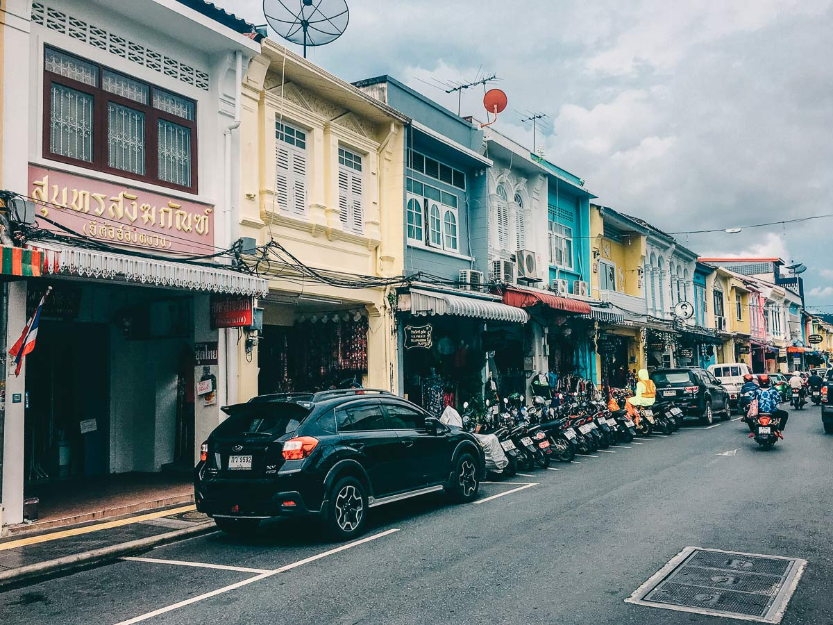 Strassen in Phukets Altstadt