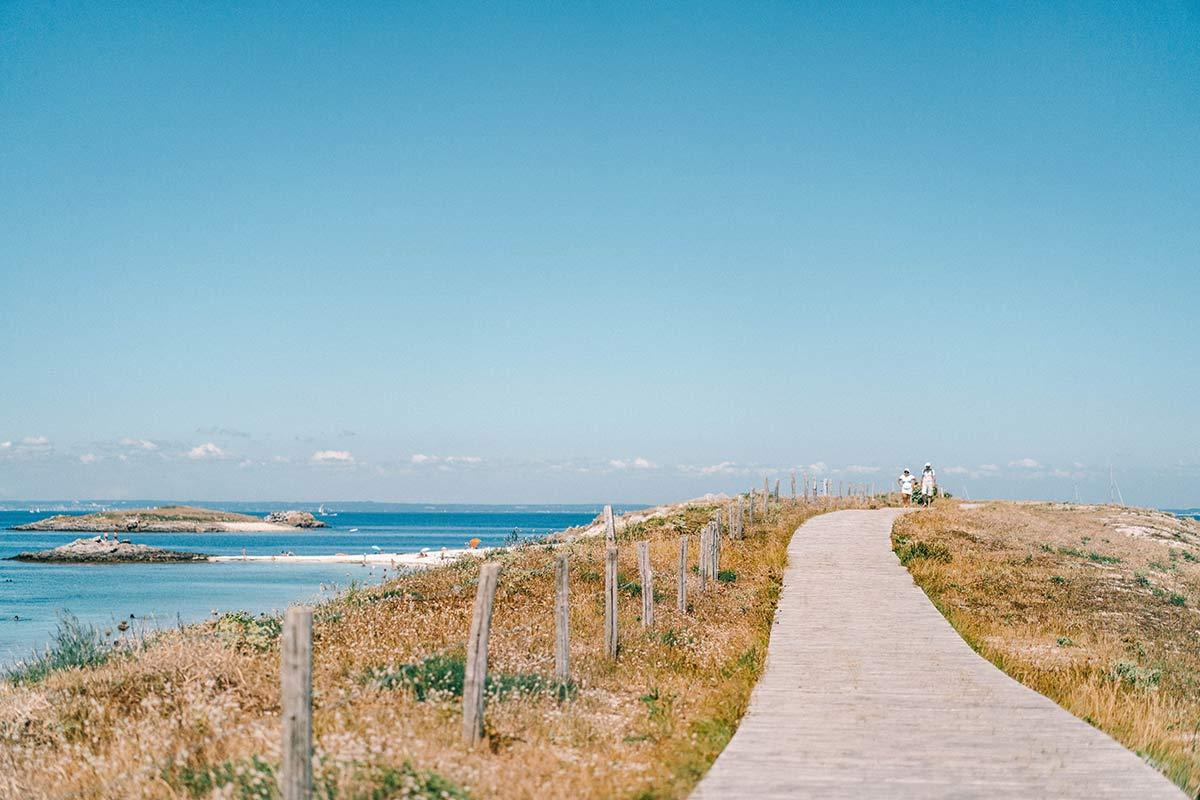 Spazierweg über die Glènan Inseln