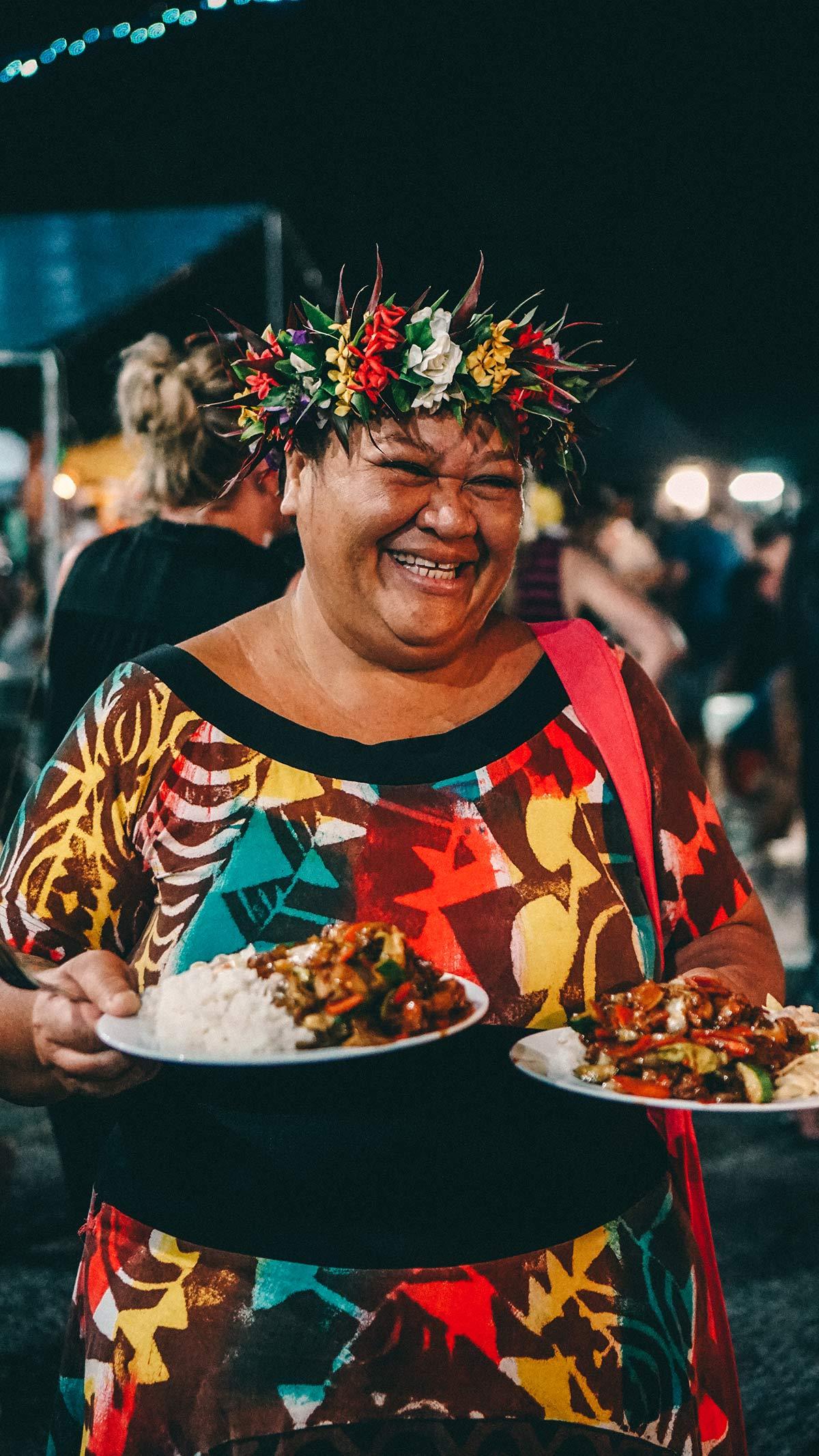 Auntie Nane auf dem Muri Night Market