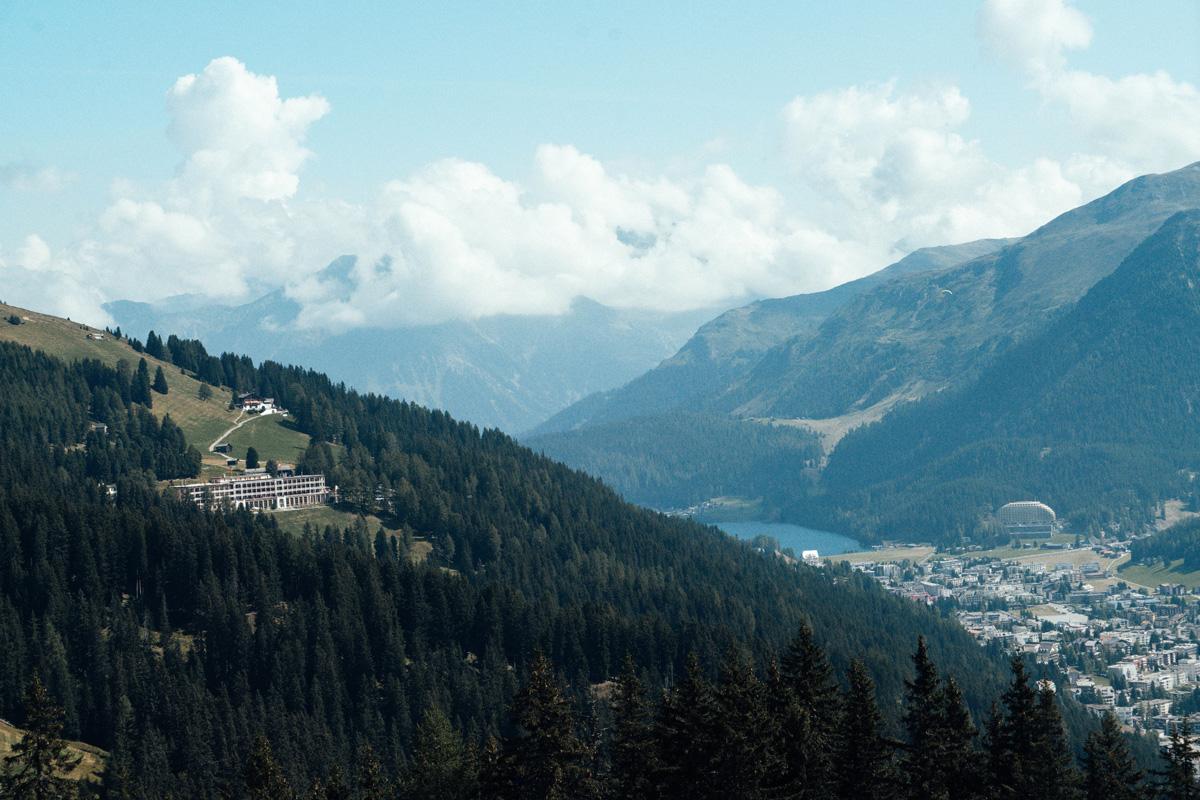 Aussicht Davos Schweiz