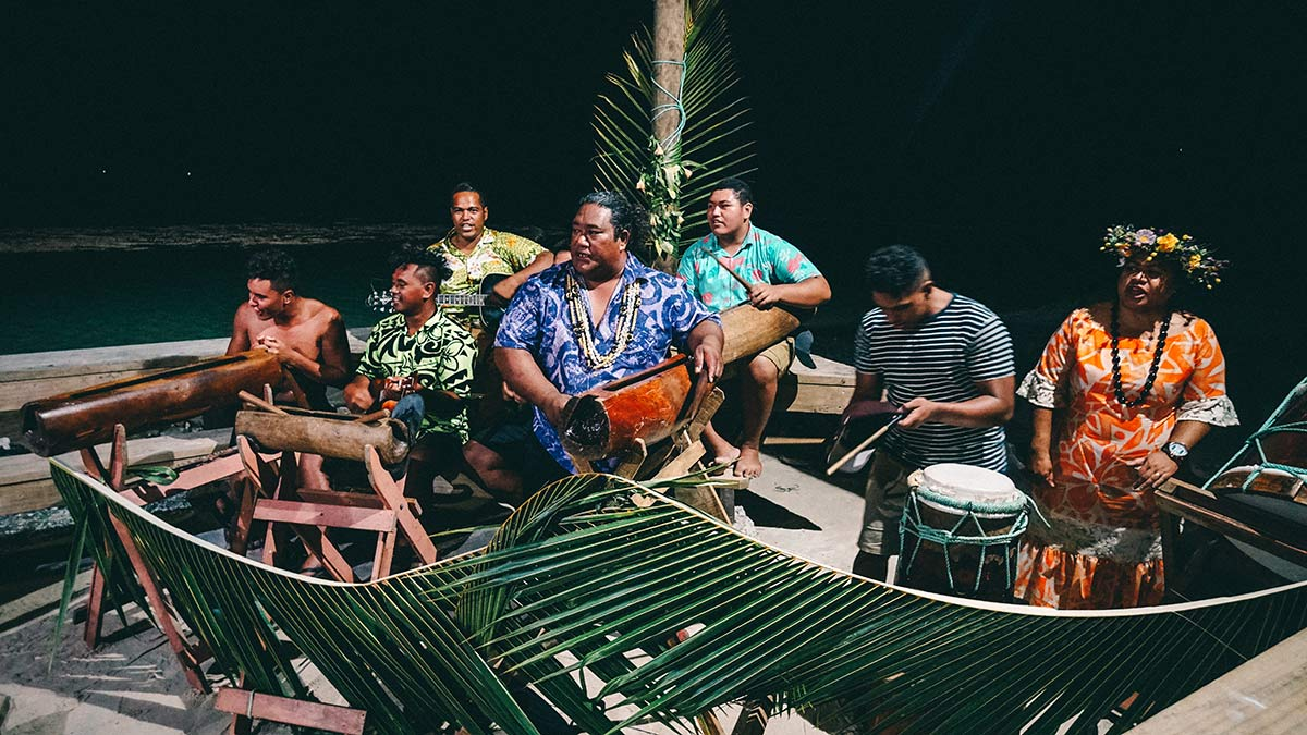 Band der Cultural Night Aitutaki