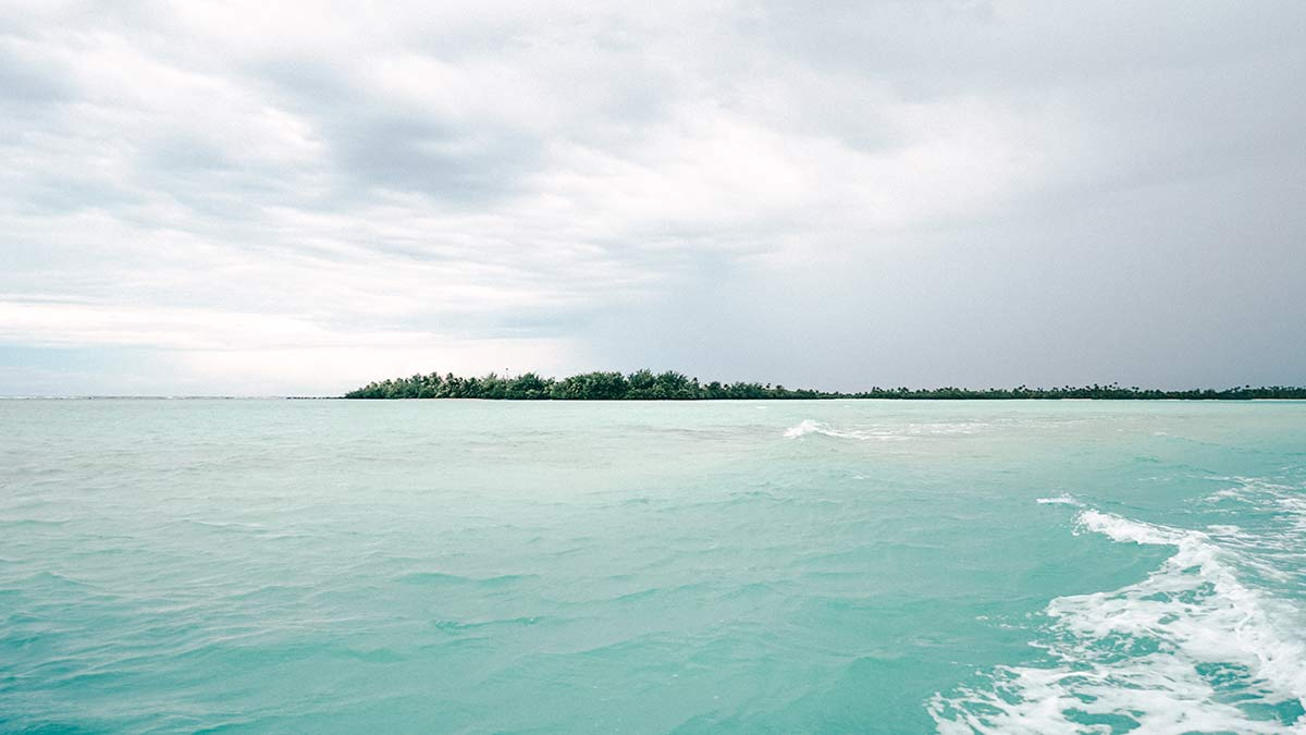Bishops Cruise durch Aitutakis Lagune