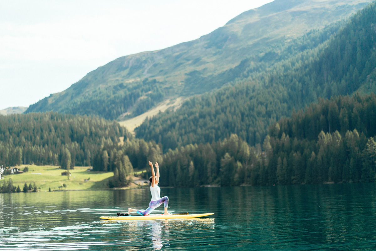 SUP Yoga in Davos