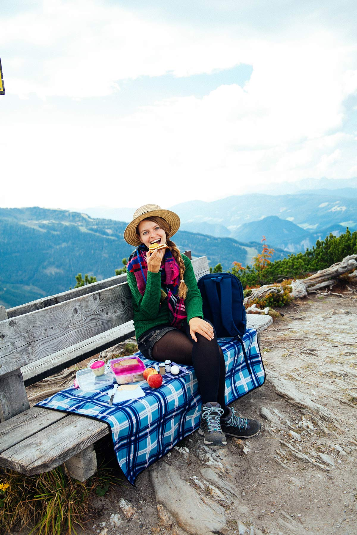 Picknick auf dem Berg