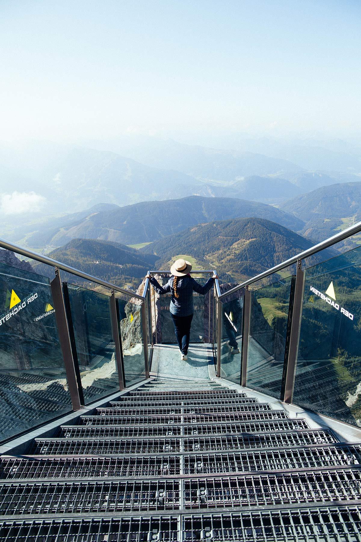 Treppe ins Nichts in Schladming-Dachstein