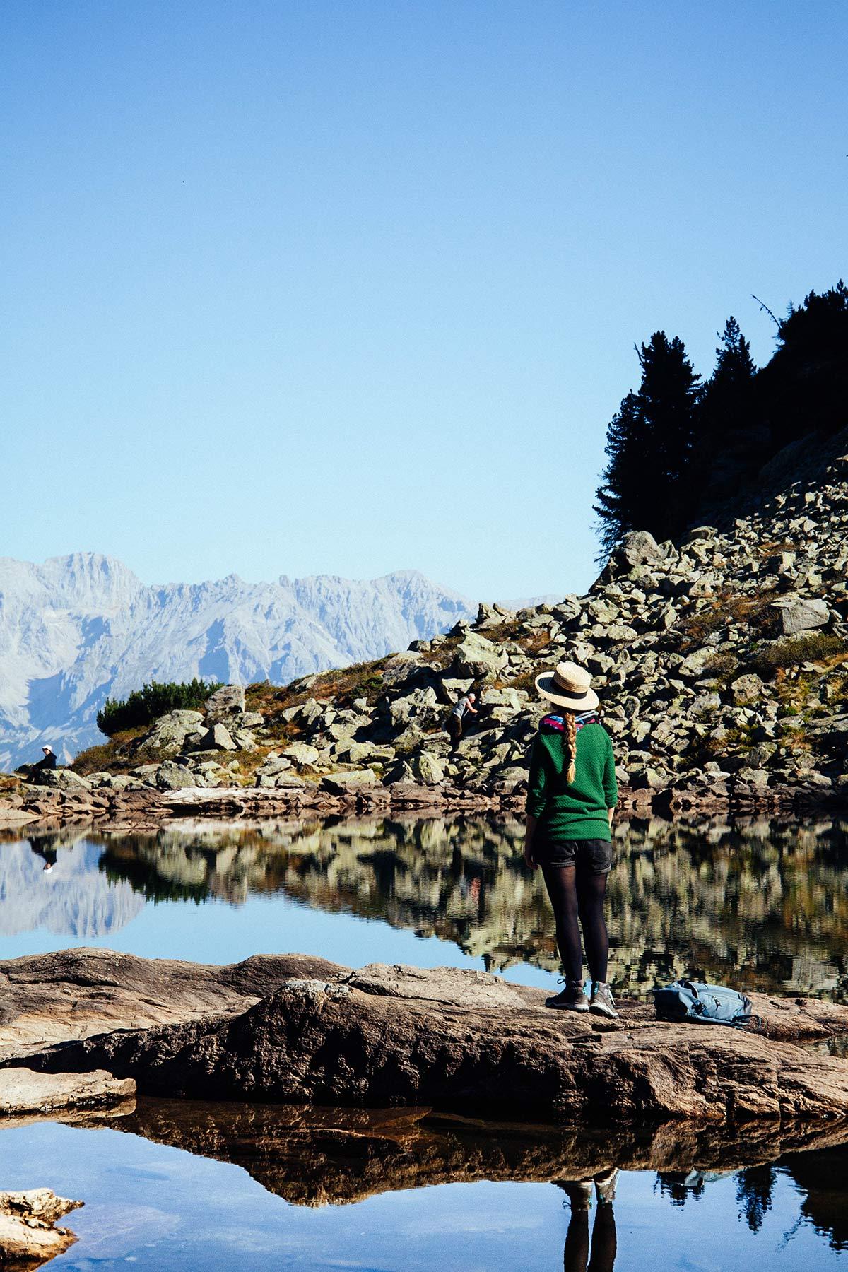 Wandern zum Spiegelsee