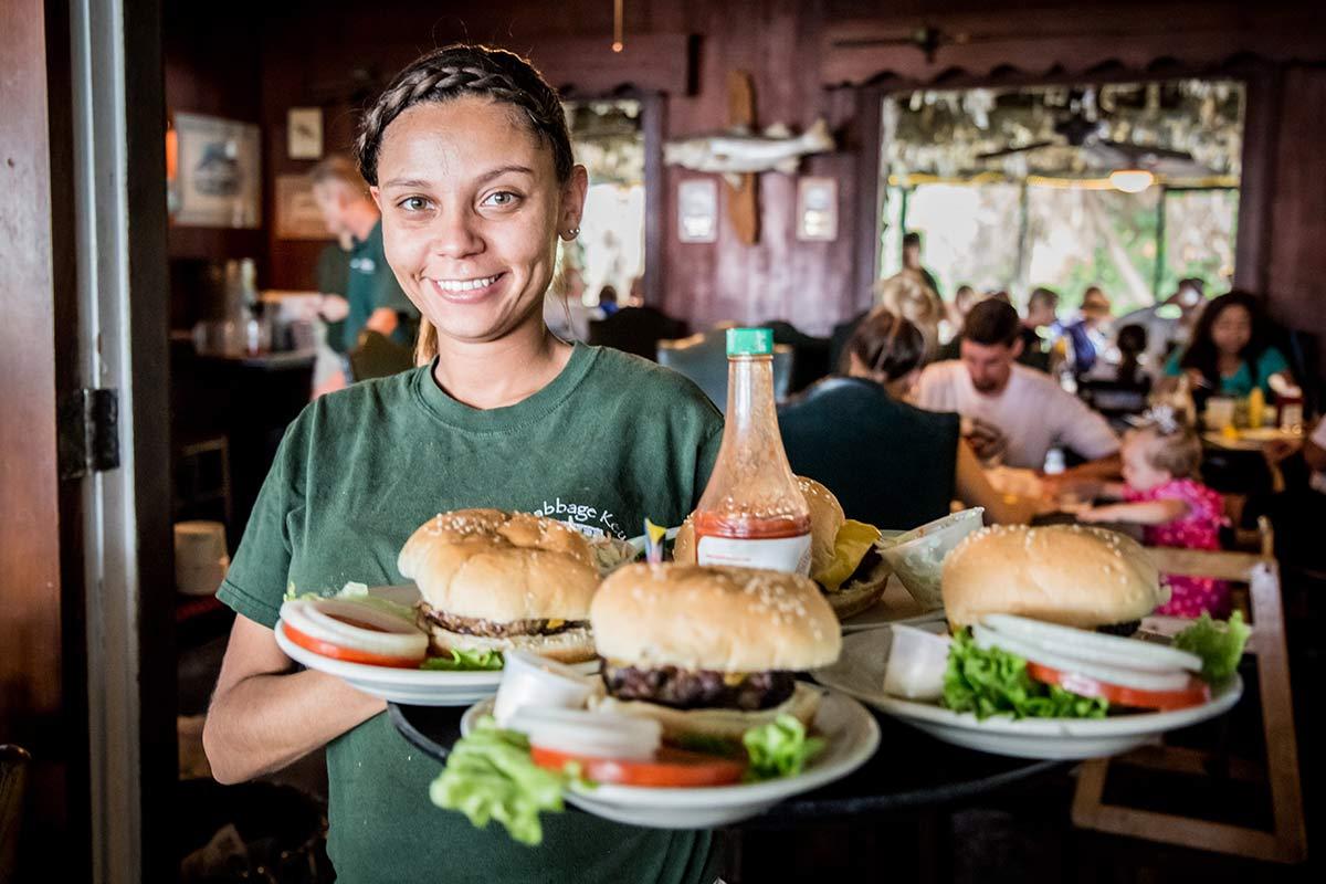 Burger auf Cabbage Key in Florida