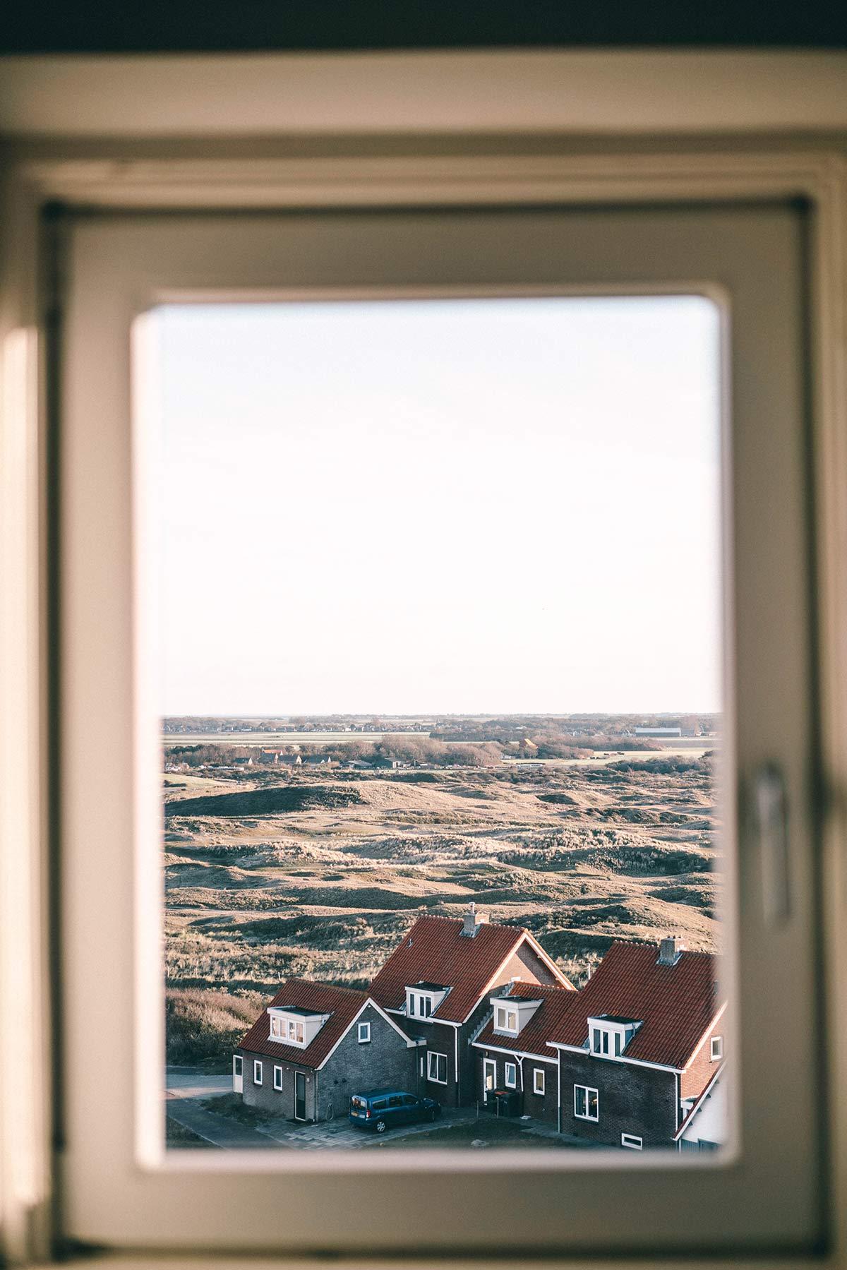 Fenster Leuchtturm Texel