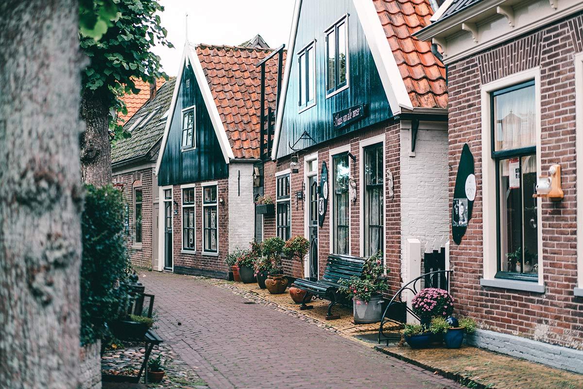 Strassen Dorf Oosterend Texel