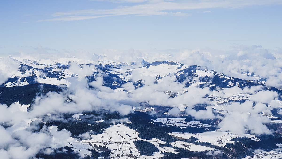 Wilder Kaiser Brixental Skigebiet Aussicht