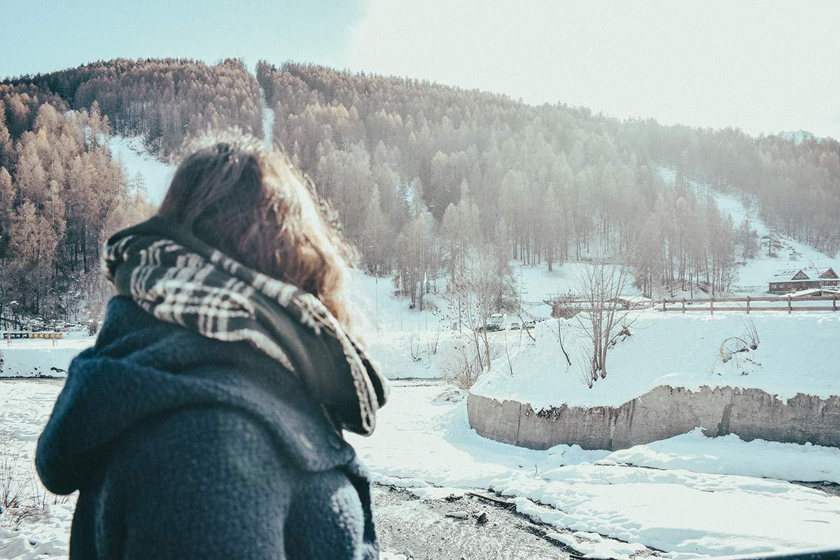 Bardonecchia Blick auf Schnee