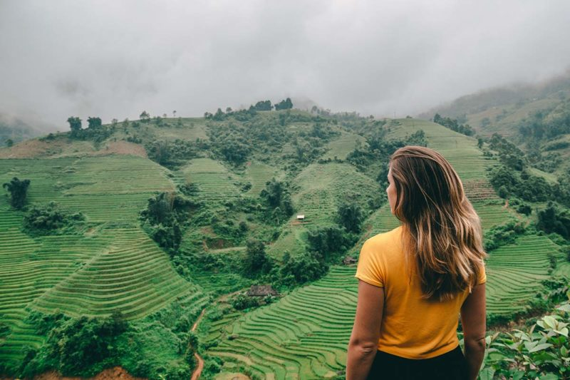 Beeindruckende Reisterrassen in der Region Sapa