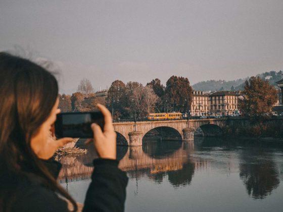 Fluss Po Turin