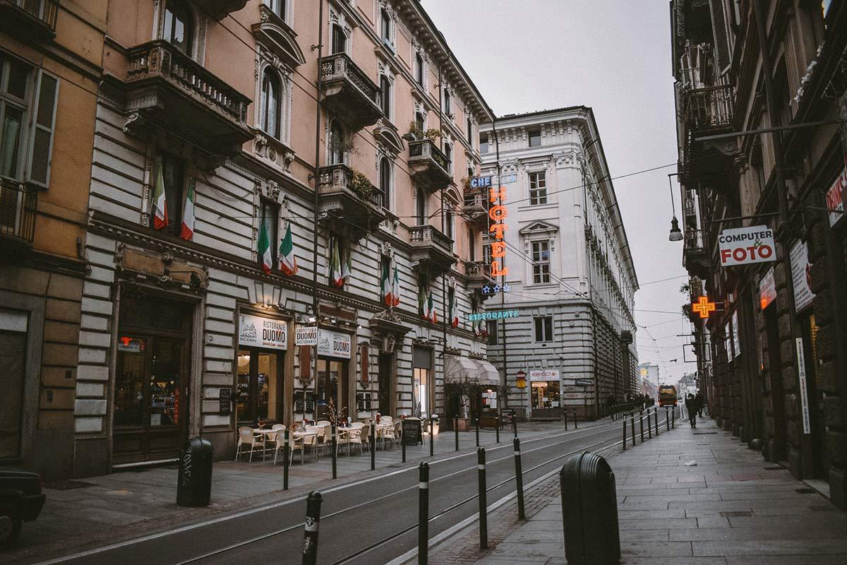 Gasse von Turin