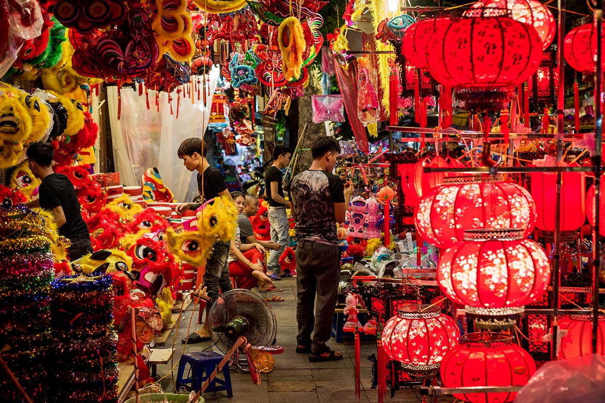 Hanoi buntes Nachtleben