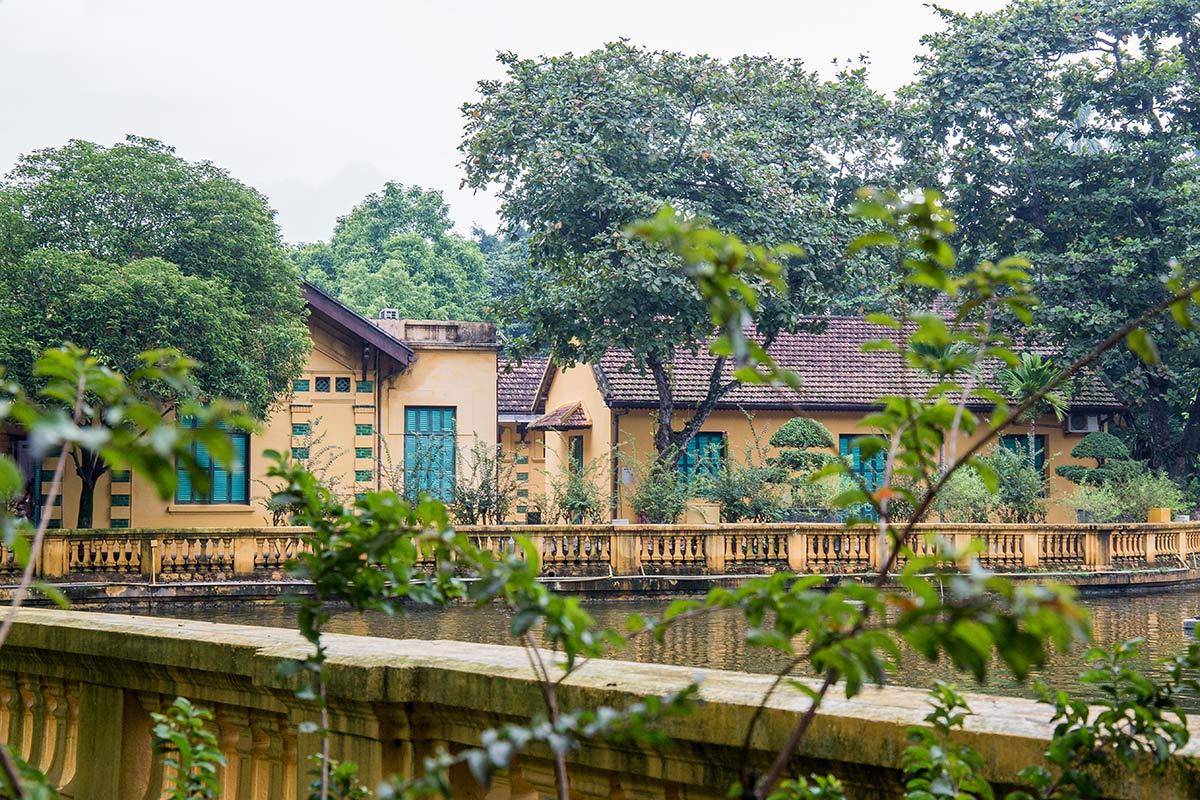 Ho Chi Minhs Wohnhaus in Hanoi