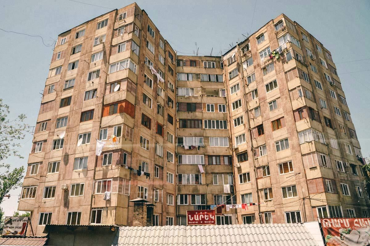 Sowjetische Architektur Jerewan