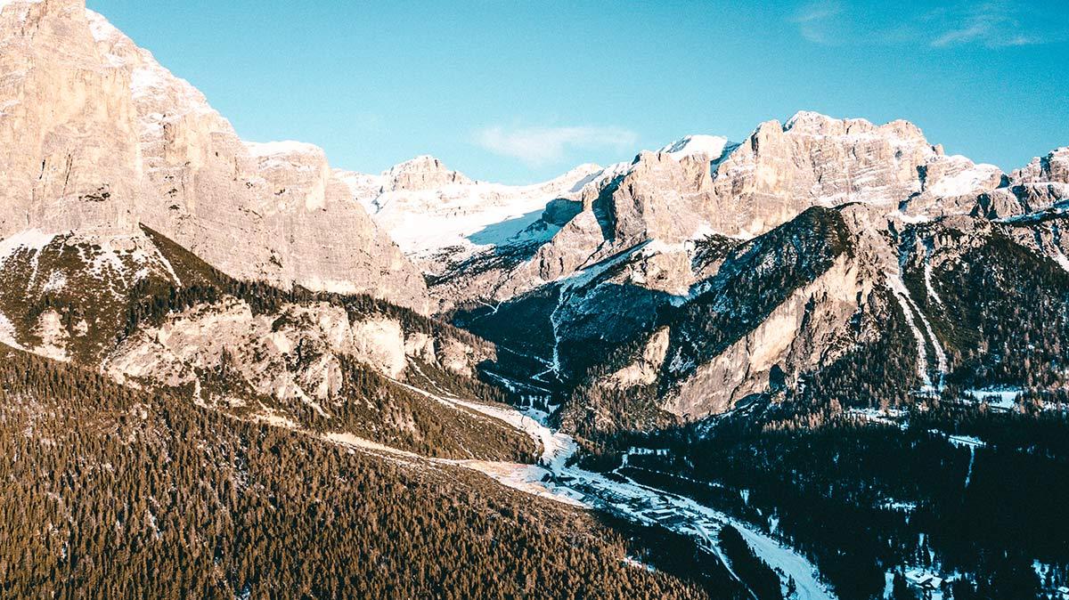 Alta Badia Landschaft Dolomiten Langenthal