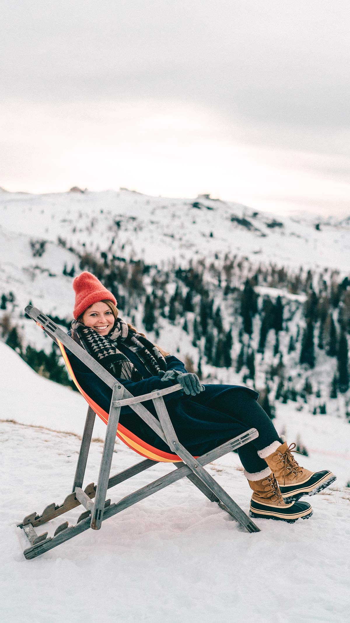Alta Badia Skigebiet Huette Entspannen