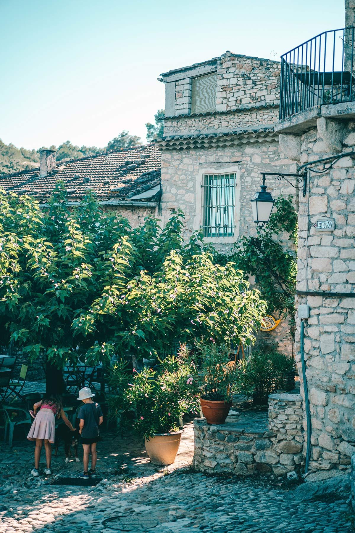 Dorf La Roque sur Ceze Frankreich