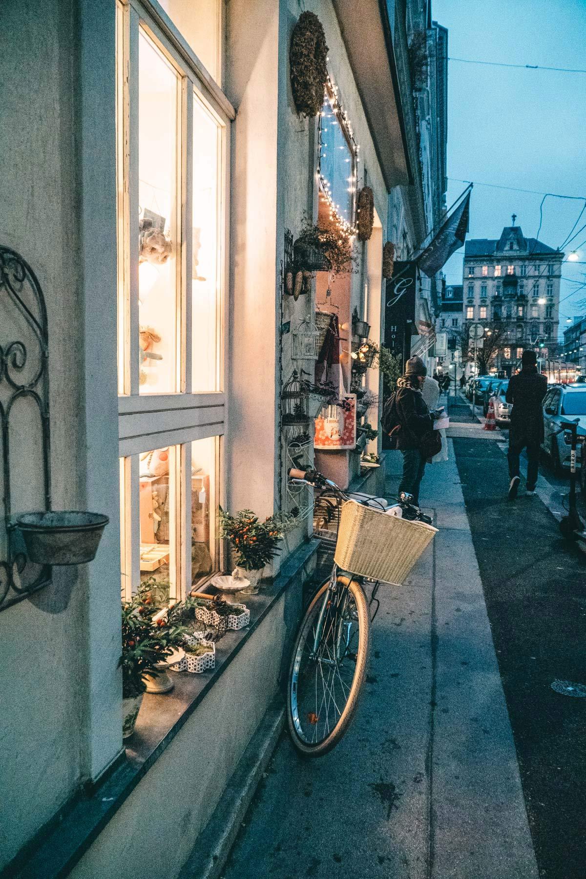 Gasse in Wien