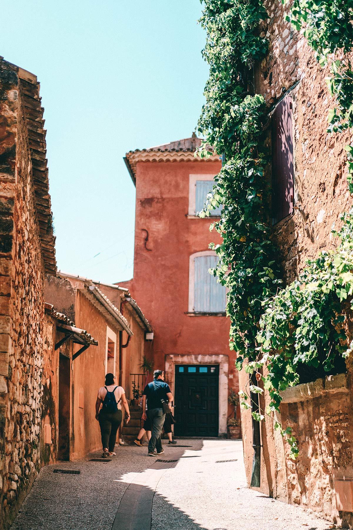 Gassen Stadt Roussillon